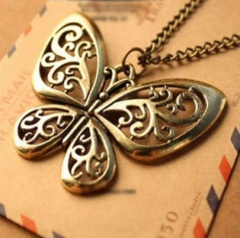 Post image for Amazon-Bronze Butterfly Necklace Just $0.65 Shipped