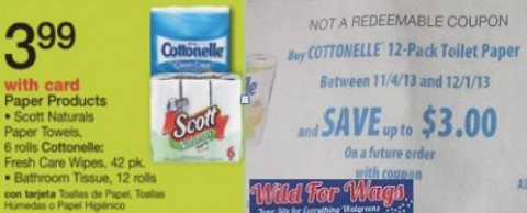 Post image for Walgreens: Cottonelle 12 Pack $2.44 Each Starting Monday (Print Now)
