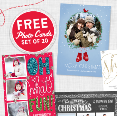Post image for 20 FREE 5″x7″ Christmas Cards from Walgreens ($16.99 Value)!