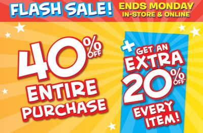 Post image for Justice Flash Sale: 40% Off PLUS 20% Off  PLUS Earn $50 in Rewards when You Spend $50!