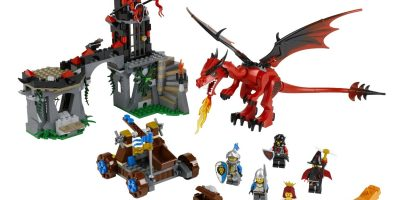 lego castle mountain dragon 2
