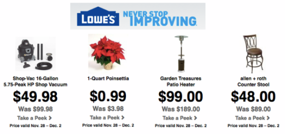 Post image for Lowes Black Friday Deals are LIVE