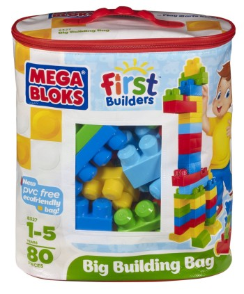 Post image for Mega Bloks Big Building Bag, 80-Piece (Classic)-$14.44