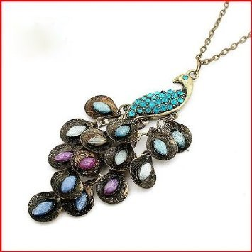 Post image for Amazon-Retro Peacock Crystal Necklace $0.90 Shipped!