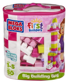 Post image for Amazon-Megabloks 80 pc Large Classic Bag, Pink $11.99