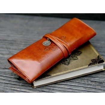 Post image for Still Available-Retro Style Bandage Leather Pen Bag Pencil Case Makeup Cosmetic Pouch