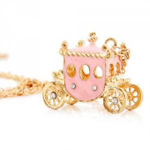 Post image for Amazon-Pink Princess Carriage Necklace Just $2.50 Shipped