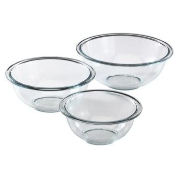 Post image for Pyrex 3-Piece Mixing Bowl Set Mixing Bowls