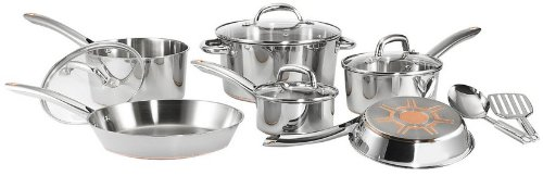 Post image for Amazon Daily Deal: T-fal Stainless Steel Copper-Bottom 12-Piece Silver Cookware Set $78.99
