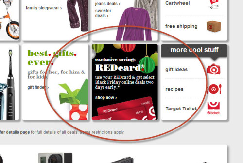 Post image for Target: Select Black Friday Sales LIVE Online for RedCard Members!