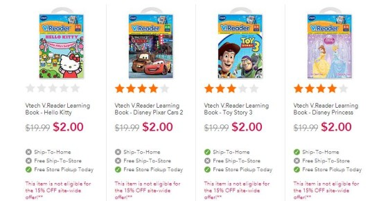 Post image for **HOT** $2.00 Vtech Learning Books (Normally $19.99)