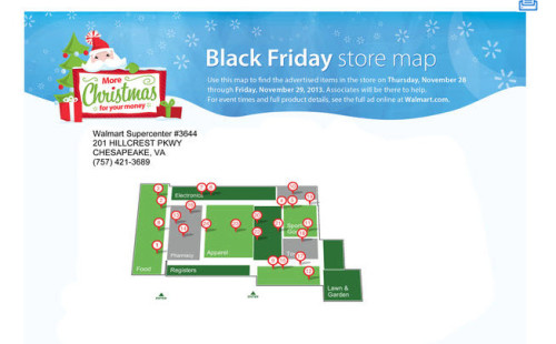 Post image for Walmart Black Friday 2013 Map