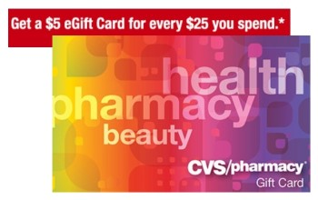 Post image for CVS: FREE $5 Gift Card with $25 Gift Card Purchase!