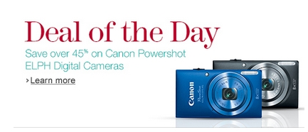 Post image for Amazon Daily Deal: Canon PowerShot Digital Camera $69.99 Shipped!