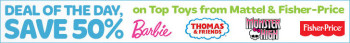 Post image for 50% OFF Mattel & Fisher Price