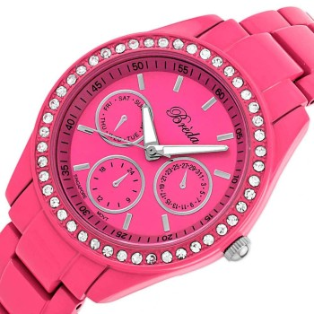 "Post image for Breda Women's Pink ""Lexington"" Rhinestone Accented Watch-$14.90"