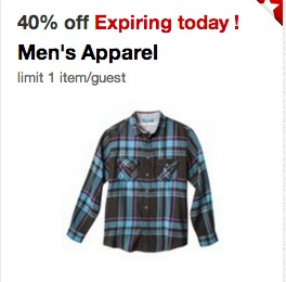 Post image for Target Cartwheel – 40% off Men's Apparel Coupon