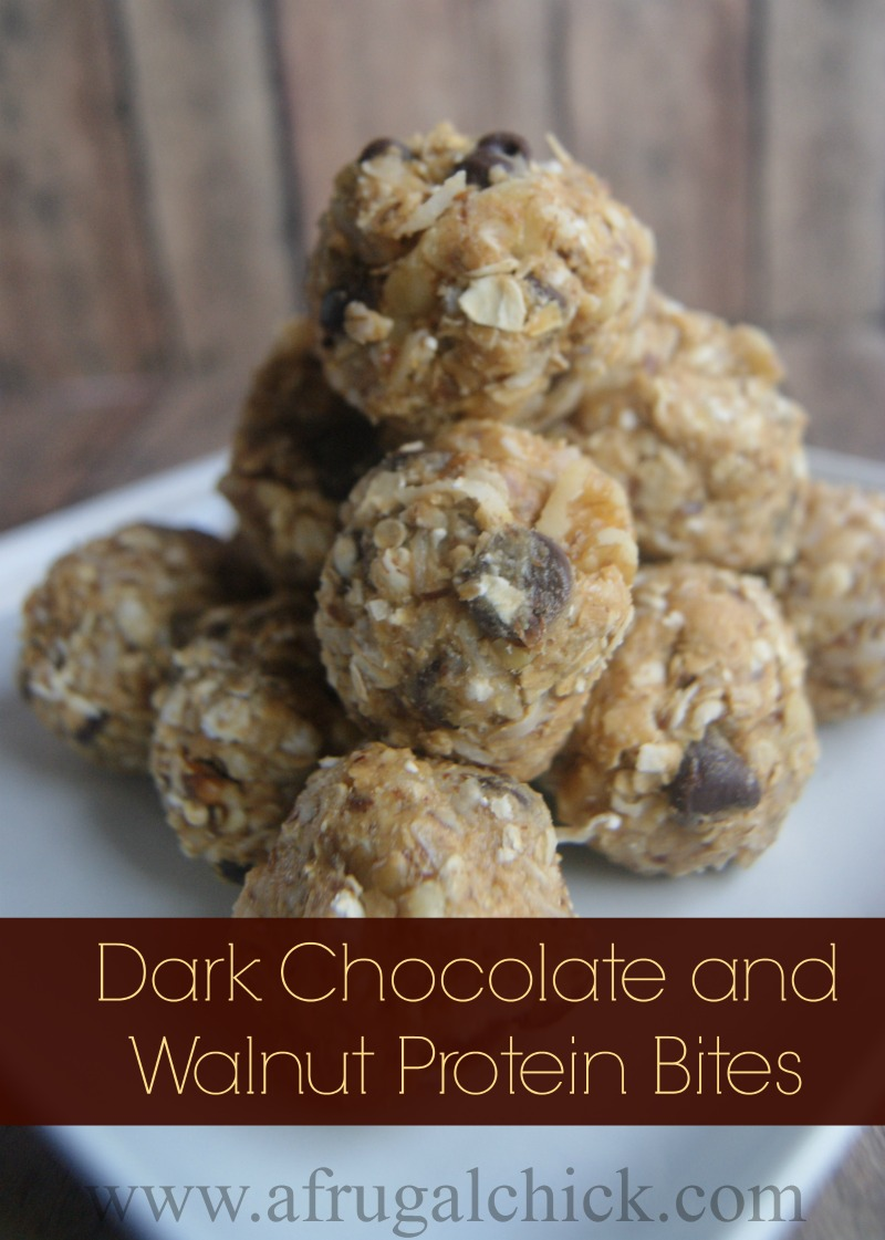 Dark Chocolate and Walnut Protein Bites