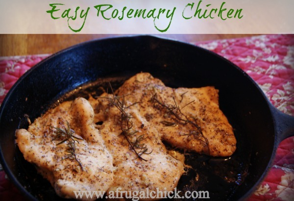 Post image for Easy Rosemary Chicken