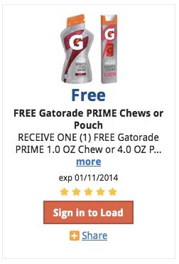 Post image for Kroger: FREE Gatorade Prime Pouch or Energy Chews (E-Coupon)