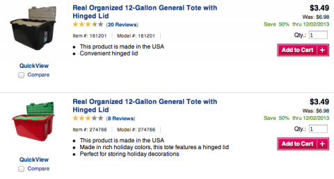 Post image for Lowe's: 12 Gallon Totes only $3.49!