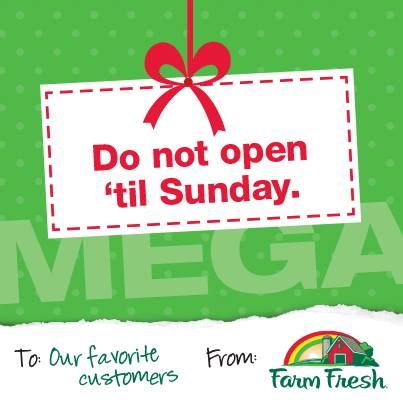 Post image for Farm Fresh Mega Coupon Event Sunday 12/22