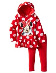 Post image for Amazon-Disney Girls 2-6X Minnie Mouse 2 Pieced Polka Dot Pulloverhood and Pant $16.99