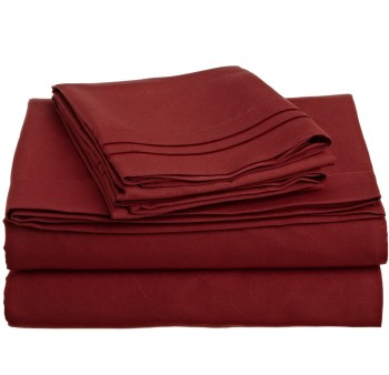 Post image for 1200 Thread Count Queen Sheets: Burgundy-$17.78