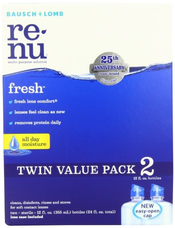 Post image for **HOT** Bausch & Lomb ReNu Multi-Purpose Solution 2 Pack $9.49
