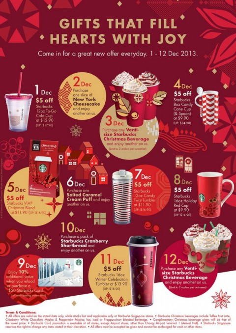Post image for Starbucks 12 Days Of Gifting Returns