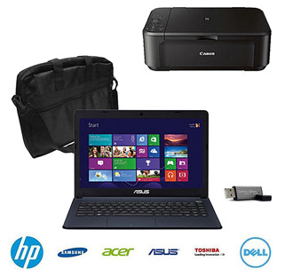 Post image for Walmart: Holiday Laptop Bundle with Choice of Laptop, Case, Flash Drive & Printer $298
