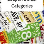 Coupon Binder Categories