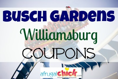 Post image for Busch Gardens Williamsburg Coupons