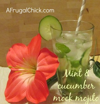 Post image for Non-Alcoholic Mojito Recipe- Refreshing Mint 'n Cucumber!