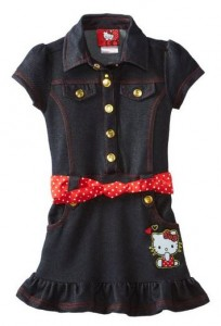 Post image for Amazon-Hello Kitty Girls 2-6X Denim Dress $7.74