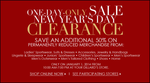 Post image for Dillards: Additional 50% Off All Clearance