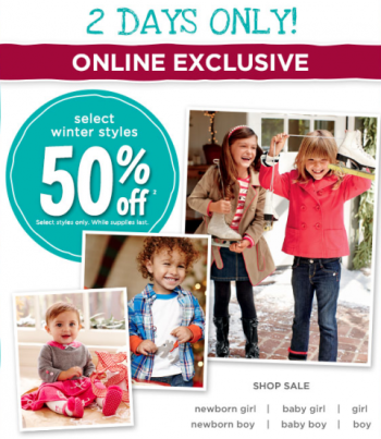 Post image for Gymboree: 50% off + Additional 30% off!
