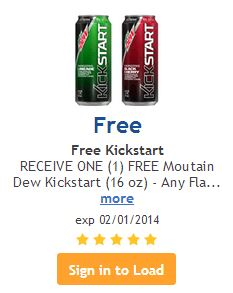 Post image for Kroger: Free Mt. Dew Kick Start