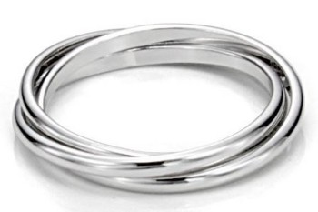 Post image for Amazon-Sterling Silver Triple Interlocked Ring Under $10
