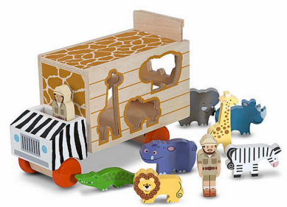 Post image for Amazon-Melissa & Doug Animal Rescue Shape-Sorting Truck $14.99