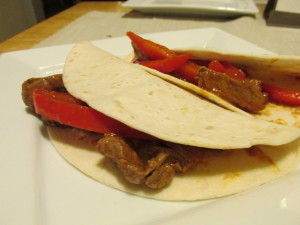 Post image for Cooking for One Recipes: Make-Ahead Steak Fajitas