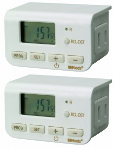 Post image for Woods Indoor Digital Lamp Timer, 2-Pack $15.29