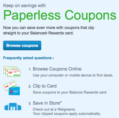 Post image for Walgreens: Add Coupons To Your Balance Reward Card