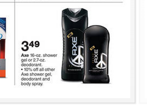 Post image for Target: Axe Deodorant $.49
