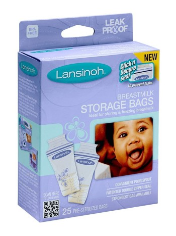 Post image for Amazon-Lansinoh Breastmilk Storage Bags 75 bags $13.49