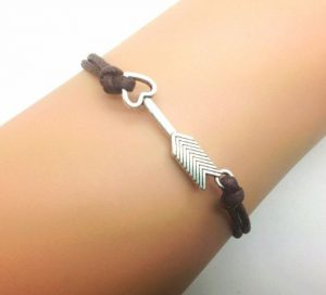 brown rope arrow bracelet