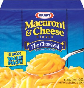 kraft five pack mac n cheese