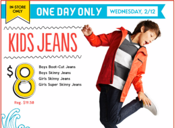 Post image for Old Navy: Boys and Girls Jeans Only $8 (Regularly $19.50) – In-Store & Today Only