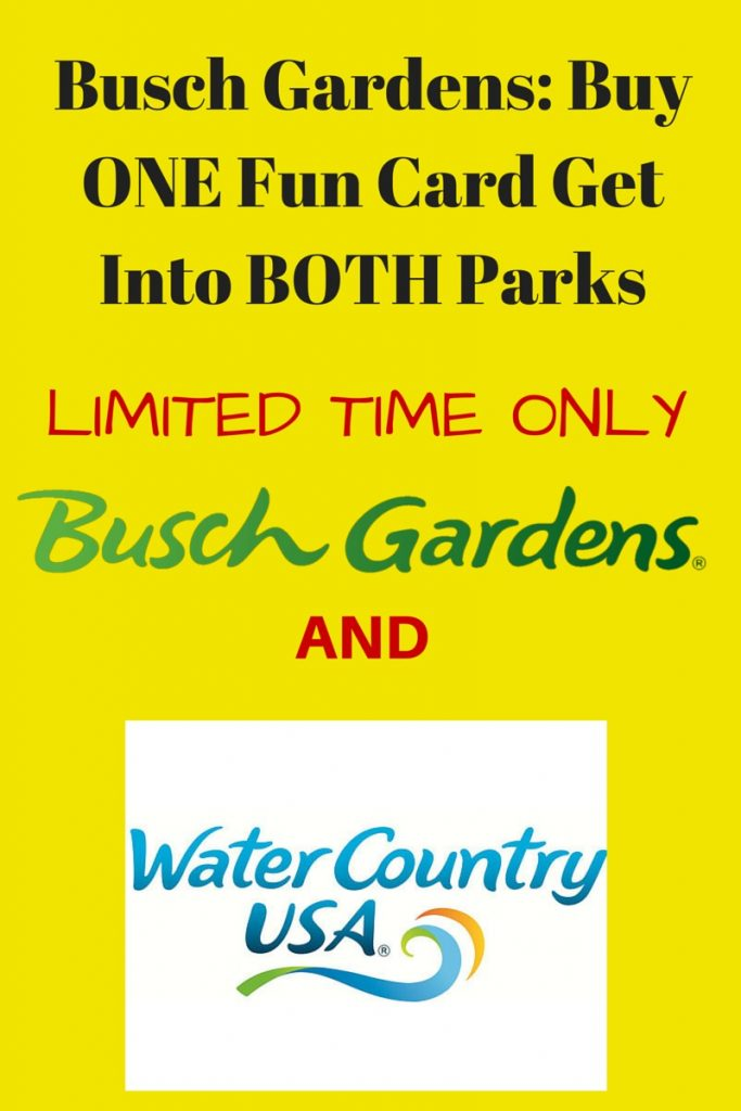 Busch Gardens- Buy ONE Fun Card Get Into Both Parks