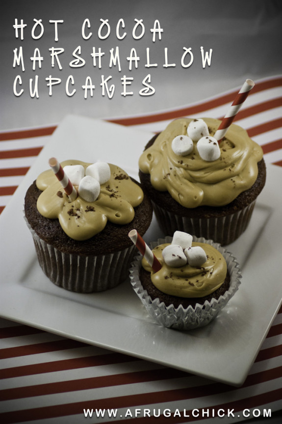 Post image for Hot Cocoa Marshmallow Cupcakes